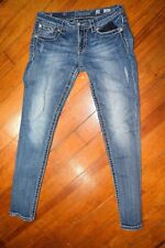 Miss Me Jeans Distressed Signature Rise Skinny Blue Women's Size 28