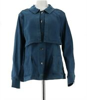 Women with Control My Wonder Denim Overlay Jacket Mid-Blue 1X NEW A310781