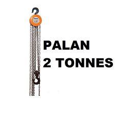 PALAN A CHAINE A MAIN 2 TONNE hauteur levage 3 Metres