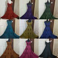 Plus Size Maxi Dress Stunning Rayon Pagan Boho Festival Gypsy 16 18 20 22 24