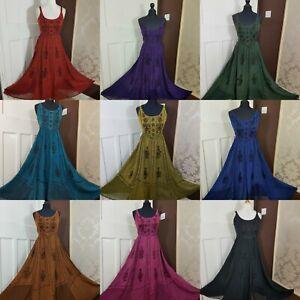 Plus Size Maxi Dress Stunning Rayon Pagan Boho Festival Gypsy Size 18 20 22 24