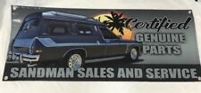 Holden Sandman Panel Van V8 Holley Edelbrock Stromberg Carby Sign PVC Banner