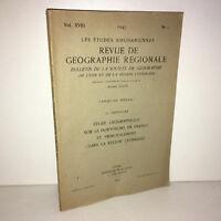 LES ETUDES RHODANIENNES revue de GEOGRAPHIE REGIONALE LYON n° 1 de 1943 - BB7A