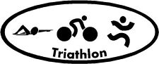 Triathlon Logo Decal Sticker Cycling Swim Run