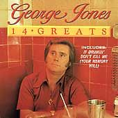 14 Greats by George Jones (CD, Aug-1994, Hollywood)