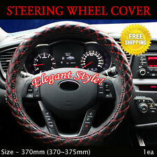 Rachel Car Steering Wheels Leatherette Cover Cap Red Stitch Size - 370mm