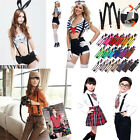 5Pcs New Mens Womens Adjustable Braces Suspenders Unisex Neon Glitter Plain