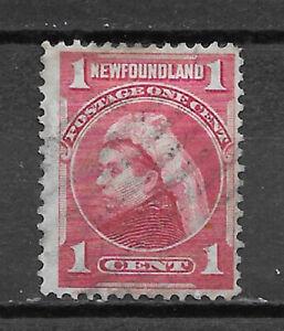 NEWFOUNDLAND , CANADA , 1897/1901 , VICTORIA , 1c STAMP , CARMINE , PERF , USED