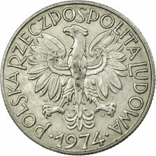 [#586289] Coin, Poland, 5 Zlotych, 1974, Warsaw, EF(40-45), Aluminum, KM:47
