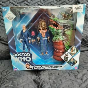DOCTOR WHO: Enemies of the Third Doctor, Jon Pertwee action figures SEALED BOXED