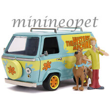 JADA 31720 HOLLYWOOD SCOOBY DOO MYSTERY MACHINE 1/24 with SCOOBY SHAGGY FIGURES