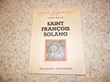 1942.Saint François Solano.Pérou.Wilbois