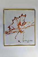 Anheuser Busch Budweiser 84 Olympics Abstract Art Butterfly Print Signed No.
