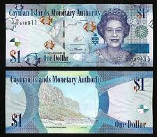 CAYMAN ISLANDS 1 DOLLARS 2017 (2010) UNC P 38d , PREFIX D/4, QEII , NEW SIGN