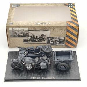 1/24 BMW R75 Panzerfaust 30 World War II Motorcycle Deep Gray Diecast Models