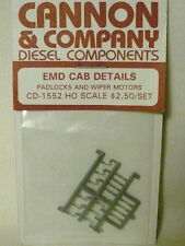 "Cannon & Company 1552 Padlocks & Wiper Motors for EMD Cab Diesels ""HO"""