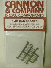 "Cannon & Company 1552 Padlocks & Wiper Motors for EMD Cab Diesels ""HO"""