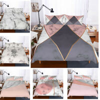 3D Colourful Marble Print Duvet Cover Bedding Set Pillowcase Comforter Cover Set