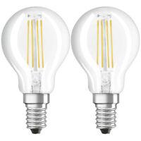 Osram LED Leuchtmittel Filament Lampe E14 Warmweiß (2700K) 4W=40W 2er-Set