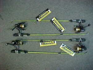 "4 NEW KAYAK HT Neon 28"" Ice Fishing Rod / Reel MEDIUM Action Combos for jigs"