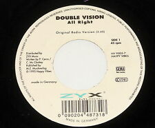"""DOUBLE Vision - 7"""" single-All Right-ZYX HV 9505-7 - versione Radio DJ X-Play"""