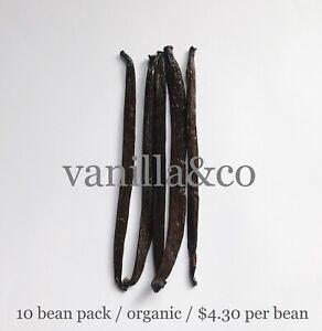 Vanilla Beans / 10 Bean Pack / Grade A / 16cm