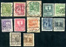 SPANISCH ANDORRA 1929 15-24,26 gestempelt mit 17,18B 280€(J8969