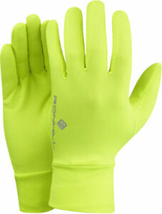 Ronhill classic gloves running jogging flou yellow RRP £ 12.00