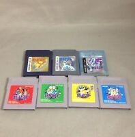 7 Pokemon set Gold Silver Crystal Red Green Yellow Blue Nintendo GameBoy GB GBC
