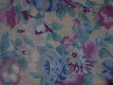 """Pretty Pink & Blue Floral Cotton Voile Fabric-112cm x per half-metre (19.5"""")"""