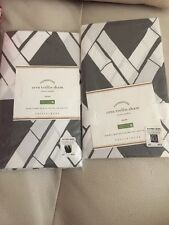 2 Pottery Barn Cera Trellis Gray European Euro Pillow Shams