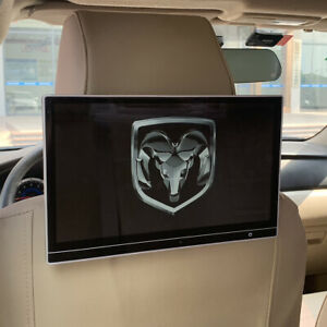 Dodge Ram Headrest Monitor With Wifi Bluetooth Android Rear Seat Entertainment