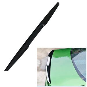 120cm Car Rear Wing Lip Spoiler Black Tail Trunk Roof Trim TPU Sticker Decor 1Pc