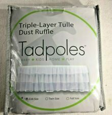 Tadpoles - Triple Layer Ruffle Crib Skirt - 100% Polyester - Tulle - White 28x52