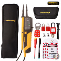 Martindale VT25 Voltage & Continuity Tester KIT23, MCB Lock Out Kit LOS-K1, Case
