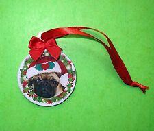 MOPS PUG Weihachten Weihnachtsbaum Ornament, Christmas ornament decoration