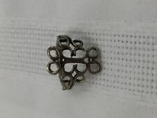 Silver Metal Fashion Jewelry Ring-Vintage Look-Curlicue Design-Size 6.5-Nice!