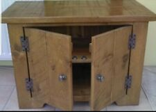 A REAL SOLID WOOD CHUNKY RUSTIC PLANK PINE TV CABINET STAND ENTERTAINMENT UNIT