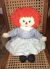 """Vintage Rare Orange � Hair Raggedy Ann Rag Doll 23"""" Plush"""
