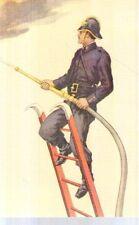 Riproduzione Cartolina Curiosità 1910 Corpo civici pompieri Milano