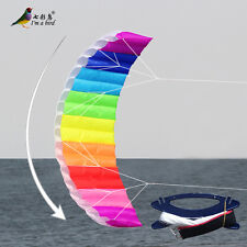 NEW 2.7m Rainbow dual Line Stunt Parafoil POWER Sport Kite outdoor toys surfing