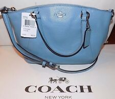 NWT Coach Pebble Leather Mini Kelsey CORNFLOWER  Leather Crossbody  F57563  $250