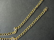 10m GOLD PLATED CURB CHAIN FINDINGS 5.5x3.5mm LEAD & NICKEL FREE