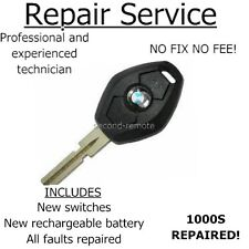 for BMW 3 5 series 3 button faulty remote key REPAIR SERVICE same day service