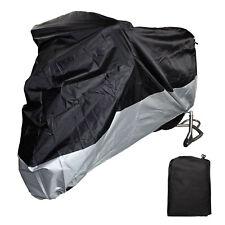 """L 86.6"""" Motorcycle Cover Motor Bike Scooter Waterproof UV Dust Protector Black"""