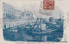 # CIVITAVECCHIA: PANORAMA DEL PORTO VISTO DALLA ROCCA - 1902