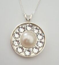 Round Crystal Pearl Costume Necklaces & Pendants