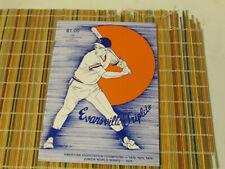 1983 Evansville Triplets Program Detroit Tigers Minor League Baseball Team