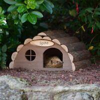 Wooden Hedgehog Hibernation House Large Solid Garden Shelter Home Food Nest Box
