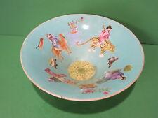 Antique Chinese Famille Rose Enamel Bowl Daoguang (1821-1850) Animals Dragon
